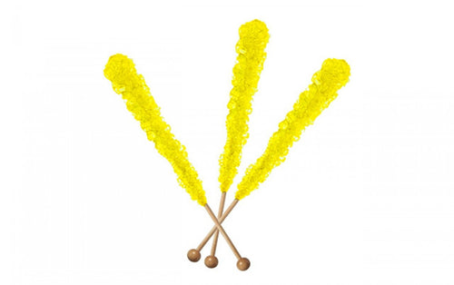 Rock Candy Sticks Yellow - 12 Count Pack