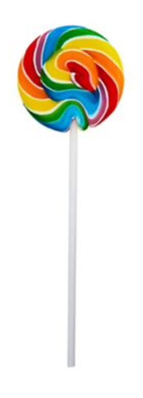 Swirl Lollipops/Suckers 24 count - Rainbow