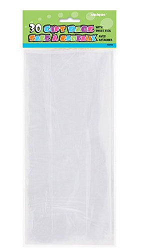 Clear Cello Bags - 25 Count