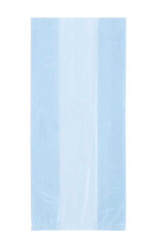 Light Blue Cello Bags - 30 Count