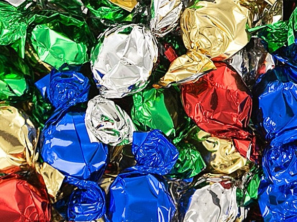 Metallic Foiled Hard Candy Buttons 2Lb - Assorted
