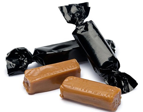 Metallic Foiled Caramels Black - 2LBs