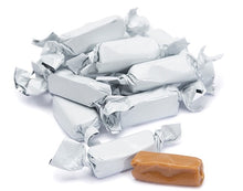 Metallic Foiled Caramels White - 2LBs