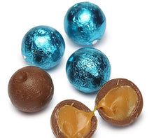 Foiled Caramel Filled Chocolate Balls - Caribbean Blue: 4LB Bag