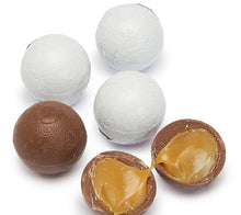 Foiled Caramel Filled Chocolate Balls - White: 4LB Bag