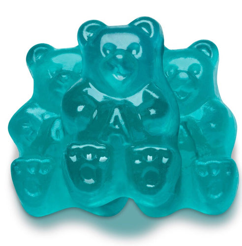 Teal Watermelon Gummy Bears - 5LB