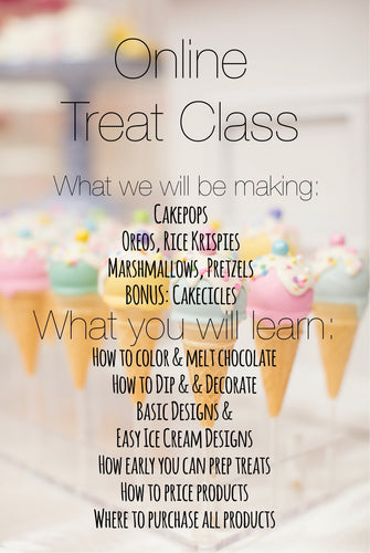 Ice Cream Treat Class Webinar - Pre Recorded Link