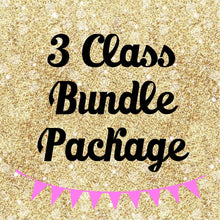 3 Class Bundle Package - $75.99 (PRE-RECORDED LINKS)