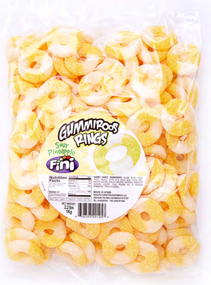 Sour Pineapple Rings - 2.2LB