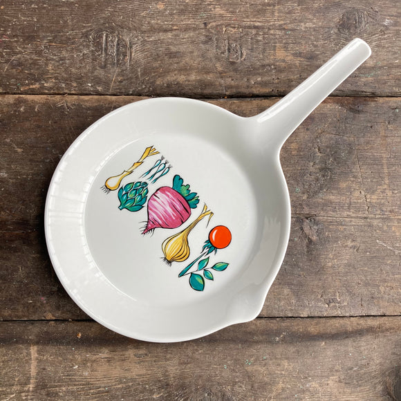 Villeroy & Boch Luxembourg, lidded Ceramic Skillet, Vegetable Pattern