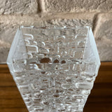 Gral Kristall West German Brutalist Blockvase - Design Emil Funke, clear