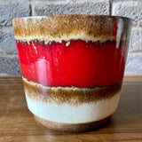 806-17 Scheurich West German Plant Pot, beige, red
