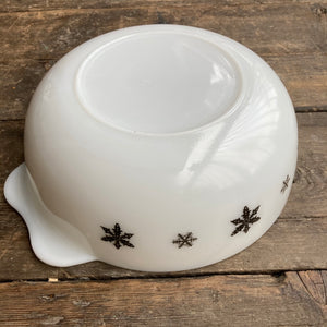 JAJ Pyrex Snowflake Lug-handled Serving Bowl, large