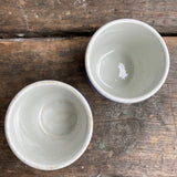 T. G. Green Cornishware Two Egg Cups, green shield
