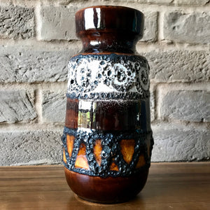 242 22 Scheurich West german fat lava vase