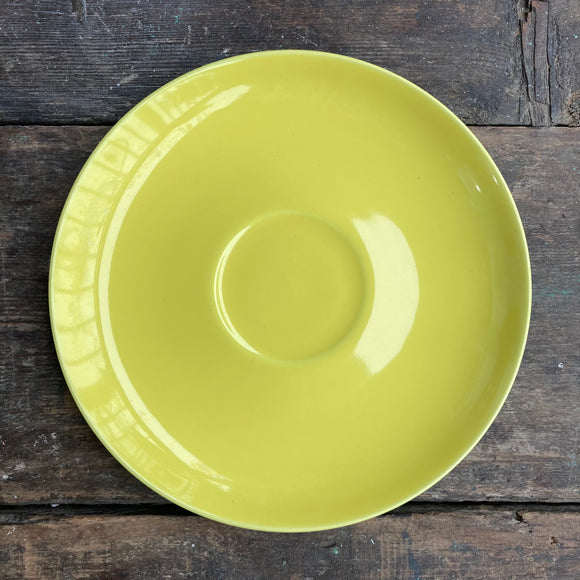 Poole Pottery Sunshine Yellow LARGE saucer