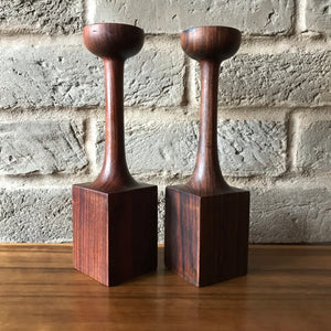 Palisander Mid Century Modern candle holders