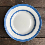 T. G. Green Cornishware Soup Plate, green shield