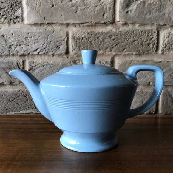 Wood's Ware 'Iris' (blue) Tea Pot