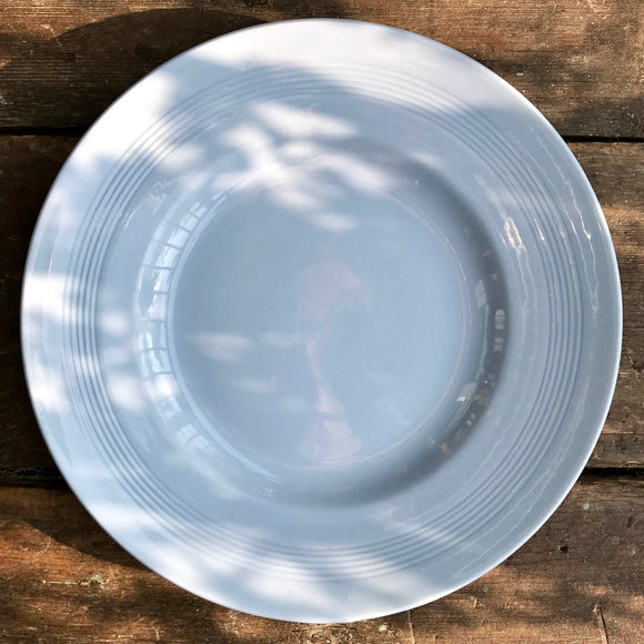 Wood's Ware Iris dinner plate, blue, 25cm