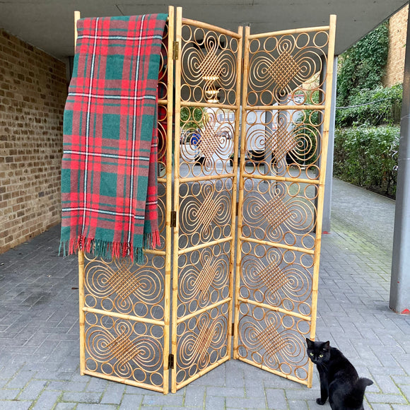 Vintage/Retro 1970's Bamboo Room Divider