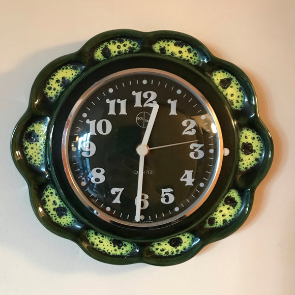 West German Ceramic kitchen clock