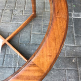 Mackintosh round teak and glass coffee table