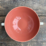 Poole Pottery C95 Red Indian and Magnolia Soup Bowl