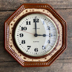 Junghans West German Ceramics Vintage Kitchen Clock