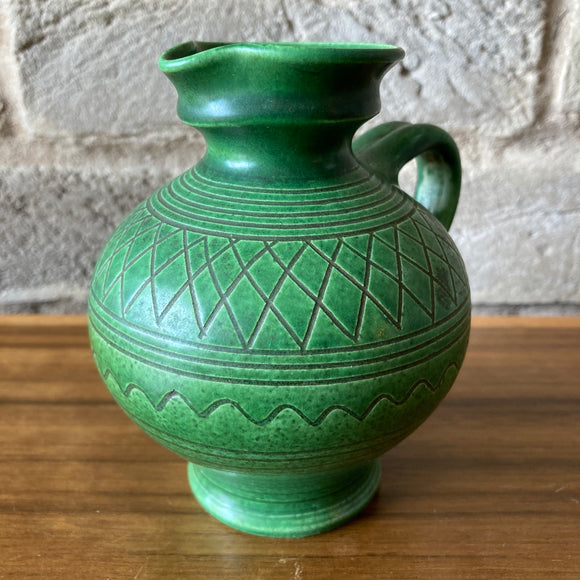 Wilhelm Kagel Ceramic Vase, green
