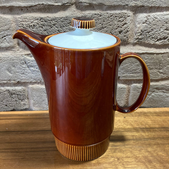 Poole Pottery 'Chestnut' Coffee Pot - Compact shape