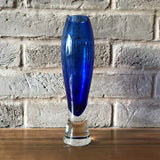 Hadeland, Norway, blue glass Vase