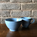 Wood's Ware 'Iris' LARGE cream jug and sugar bowl