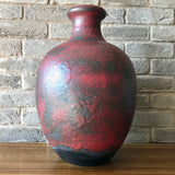 Ruscha large floor vase 837, red/black