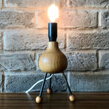Sputnik Tripod Lamp, wooden base