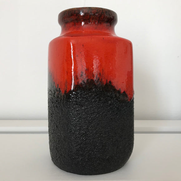 west german vase 282 20 fat lava