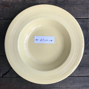 Wood's Ware 'Jasmine' rimmed Soup Plate - 25 cm