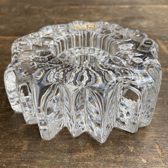Hadeland, Norway 'Nautilus' Crystal Glass Candle Holder