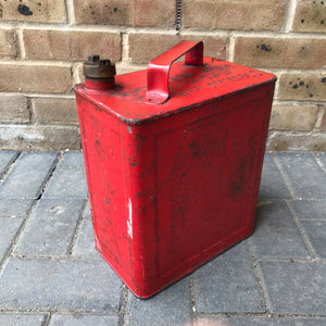 Vintage Petrol Can with Brass Lid