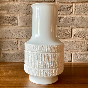 Thomas, Germany, White Op Art Vase, design Richard Scharrer