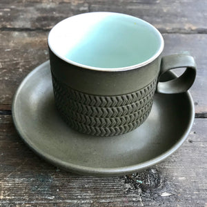 Denby 'Chevron' Cup and Saucer