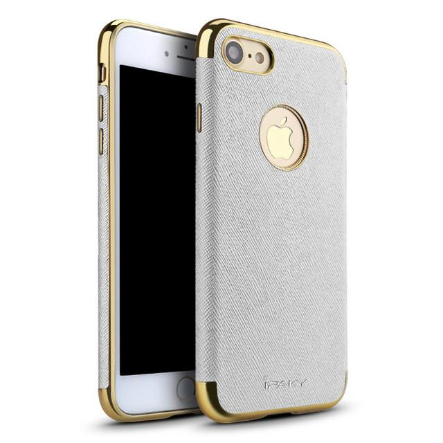 Iphone (7 & 7 Plus) Gold Trim Slim Hard Back Case Tekgq