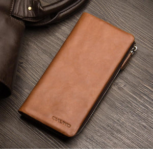 Iphone (7 & 7 Plus) Handmade Genuine Leather Wallet Pouch Case Tekgq