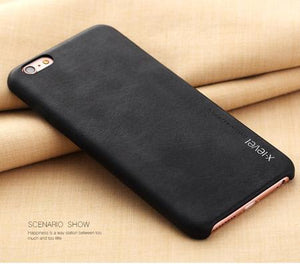 Iphone (7 Plus) Slim Pu Leather Back Case Black / For 7 Plus Tekgq