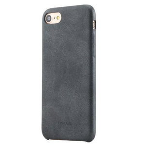 Iphone (7 & 7 Plus) Vintage Pu Leather Slim Back Case No Logo Black / For  Tekgq