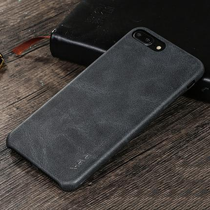 Iphone 8/8 Plus Lux Leather Back Case Black / For 8 Tekgq