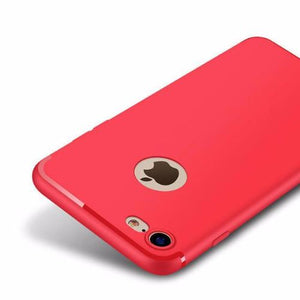 Luxury Matte Soft Silicon Case For Iphone (6 6S Plus 7 Plus) Red / 5 5S Se Tekgq