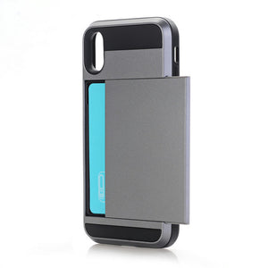 Slim iPhone X Case with Credit Card Hider - TekGQ