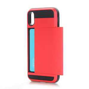 Slim iPhone X Case with Credit Card Hider