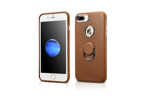iPhone 7 Genuine Leather Case with Finger Ring